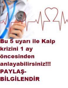 5 belirtiyle kalp krizi 1 ay önceden anlama