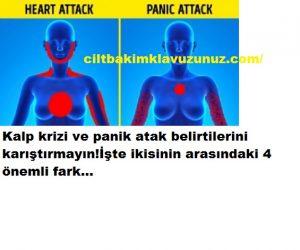 Kalp krizi ve panik atak belirtilerini birbirinden ayıran 4 unsur