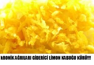 Kronik ağrıları gideren limon kabuğu kürü