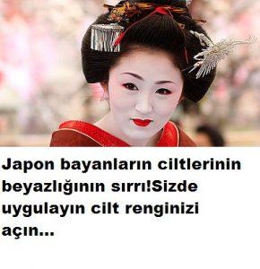 japon cilt beyazlatma tarifi