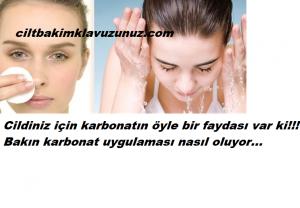 Karbonat ile yüz yıkamanın faydaları