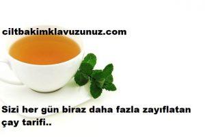 Çok hızlı zayıflatan doğal çay tarifi