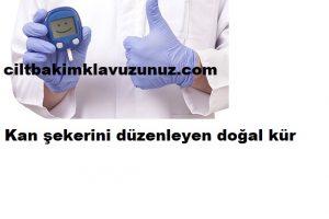 Kan şekerini düzenleyen doğal kür