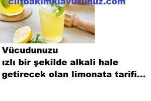 Vücudunuzu alkali hale getirecek olan limonata tarifi